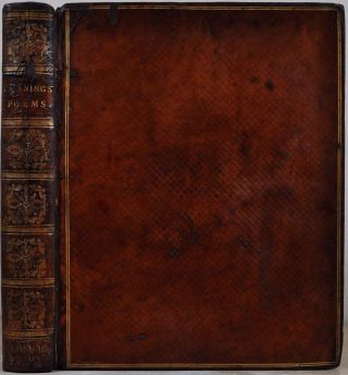 POEMS [with] A TRANSLATION OF ANTI-LUCRETIUS. Both signed by George Canning. George Canning.