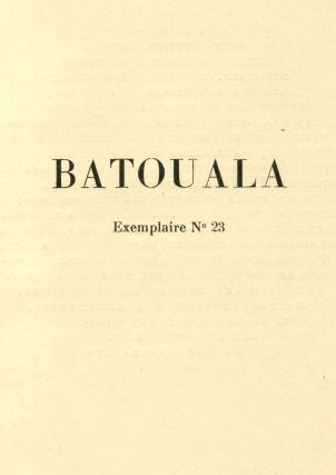 BATOUALA. Limited edition containing an original charcoal drawing by Alexandre Iacovleff.