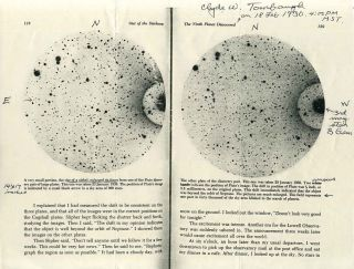 Printed photograph of the planet Pluto, signed and inscribed by astronomer Clyde W. Tombaugh....