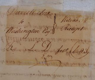1760 Land Sale Receipt, Release or Indenture for 200 acres of land continguous to Mt. Vernon, sold by Sampson and Mary Darrell to George Washington.
