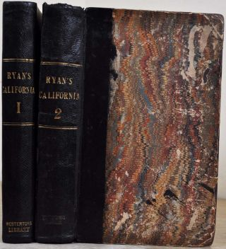 PERSONAL ADVENTURES IN UPPER AND LOWER CALIFORNIA, in 1848-49; with the Author's Experience at the Mines. Illustrated by Twenty-three Drawings, Taken on the Spot. Two volume set.