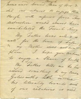 Three page letter handwritten and signed by James Wolfe.