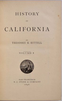 HISTORY OF CALIFORNIA. Four volume set.