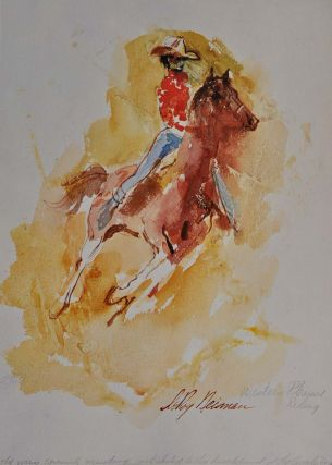HORSES. Deluxe leatherbound limited edition signed by Leroy Neiman.