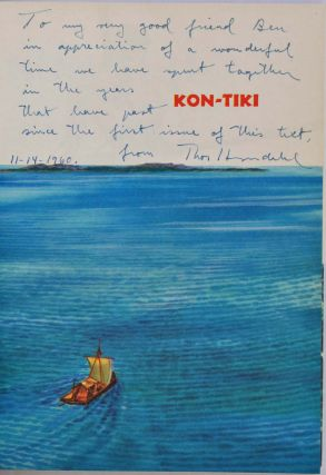 KON-TIKI. A Special Rand McNally Color Edition for Young People. Signed and inscribed by Thor Heyerdahl.