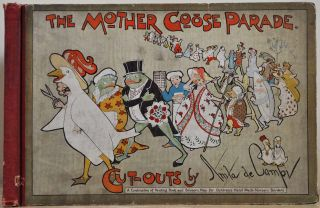 THE MOTHER GOOSE PARADE. Cut-outs by Anita del Campi. A Combination of Painting Book and Scissors...