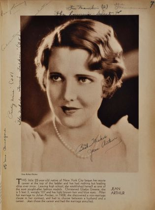 STARS OF THE PHOTOPLAY. A book signed by 124 movie stars on their photographic illustrations.