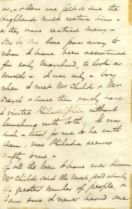 Letter handwritten and signed by Andrew Carnegie (1835-1919).