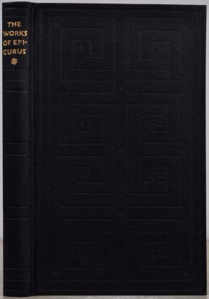 EPICURUS. The Extant Remains of the Greek Text. Limited edition signed by Bruce Rogers. Epicurus,...