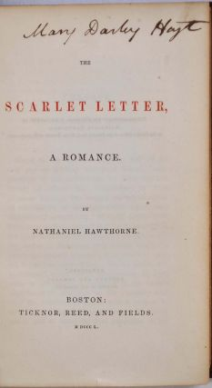 THE SCARLET LETTER. A Romance.