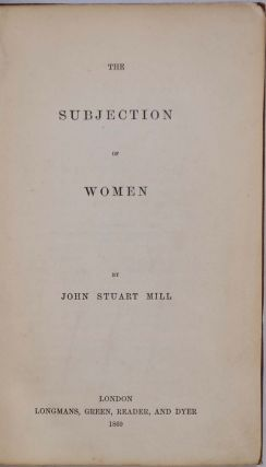 THE SUBJECTION OF WOMEN.