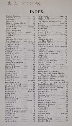 SANTA MONICA OFFICIAL BUSINESS, TELEPHONE AND RESIDENCE DIRECTORY 1899.