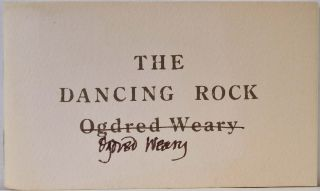 THE DANCING ROCK. THE FLOATING ELEPHANT. Signed by Ogdred Weary and Dogear Wryde [Edward Gorey]. Ogdred Weary, Dogear Wryde, Edward Gorey.