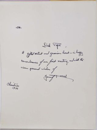 KARSH. Portraits. Signed and inscribed by Yousuf Karsh.
