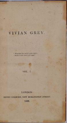 VIVIAN GREY. Five volume set.