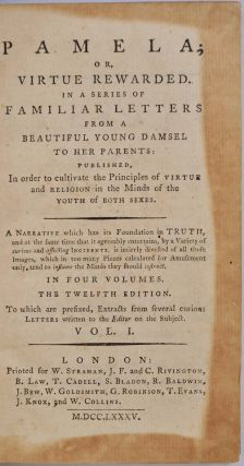 CLARISSA. Or, the History of a Young Lady. 8 volume set.