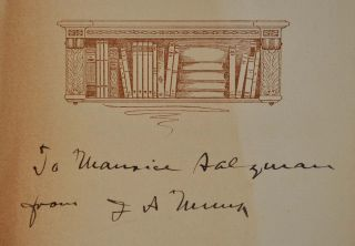 THE STORY OF THE MUNK LIBRARY OF ARIZONIANA. Signed by Joseph A. Munk. With a letter handwritten and signed by Joseph A. Munk.