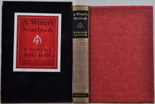 A WRITER'S NOTEBOOK. Limited editon signed by W. Somerset Maugham. W. Somerset Maugham
