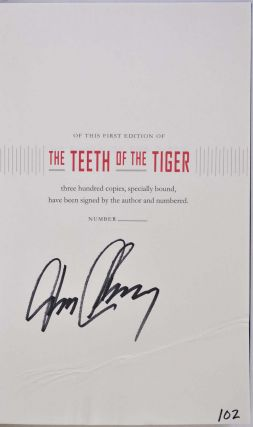 THE TEETH OF THE TIGER. Limited edition signed by Tom Clancy.