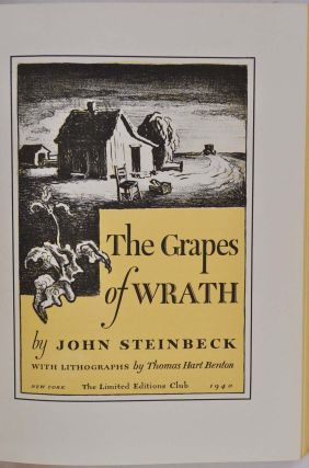 THE GRAPES OF WRATH. Limited edition signed by Thomas Hart Benton.