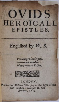 OVID'S HEROICALL EPISTLES.