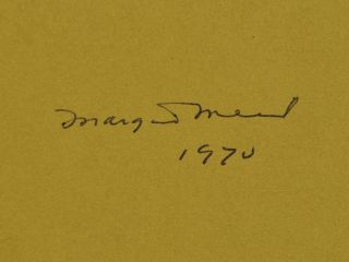 CULTURE AND COMMITMENT. Signed by Margaret Mead.