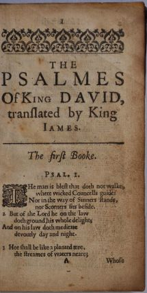 THE PSALMES OF KING DAVID, TRANSLATED BY KING JAMES.