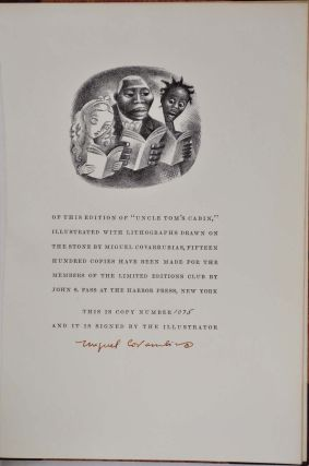 UNCLE TOM'S CABIN . Limited edition signed by Miguel Covarrubias.