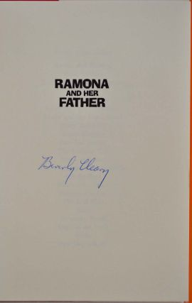 RAMONA AND HER FATHER. Signed by Beverly Cleary.