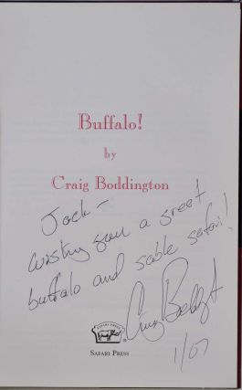 BUFFALO! Signed and inscribed by Craig Boddington.