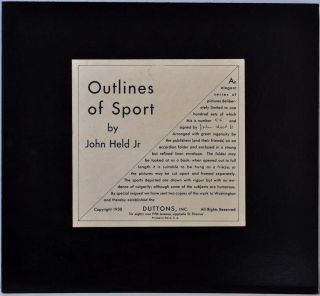 OUTLINES OF SPORT. Limited edition of 100 copies signed by John Held Jr. John Held, Jr
