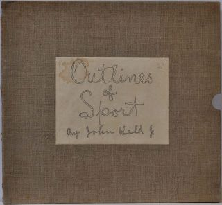 OUTLINES OF SPORT. Limited edition of 100 copies signed by John Held Jr.