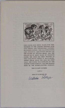 TALES OF MYSTERY AND IMAGINATION. Limited edition signed by William Sharp.