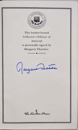 STATECRAFT. Strategies for a Changing World. Limited edition signed by Margaret Thatcher.