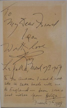 PLAYBACK. Presentation copy signed and inscribed by Raymond Chandler and Helga Greene.