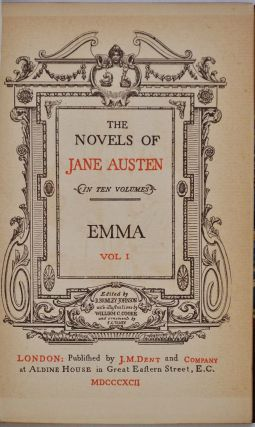 THE NOVELS OF JANE AUSTEN. EMMA. PERSUASION. NORTHANGER ABBEY. MANSFIELD PARK.
