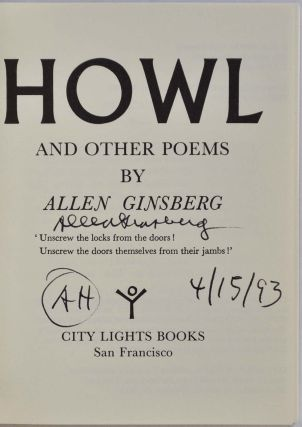 HOWL and Other Poems. Signed by Allen Ginsberg.