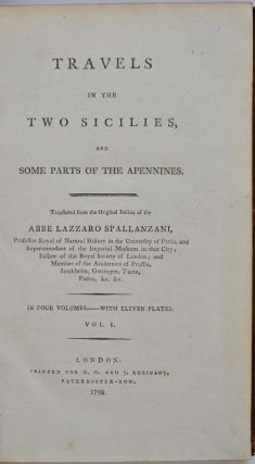 TRAVELS IN THE NEW SICILIES and Some Parts of the Apennines.