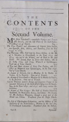 A COLLECTION OF VOYAGES AND TRAVELS, Some Now First Printed from Original Manuscripts. Others Translated out of Foreign Languages, and Now First Publish'd in English. To which are Added some Few that have formerly appear'd in English, but do now for their Excellency and Scarceness deserve to be Reprinted. In Four Volumes.