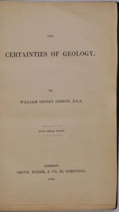 THE CERTAINTIES OF GEOLOGY.