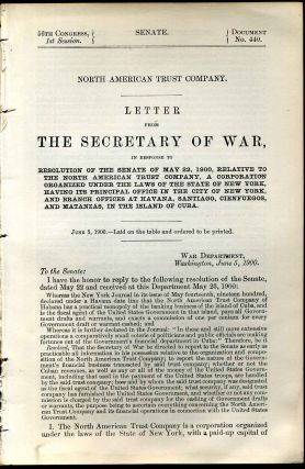 Letter from the Secretary of War, in response to the Senate of May 22, 1900, relative to the...