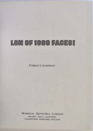 Lon of 1000 Faces! One of 52 copies of the signed and limited lettered edition.