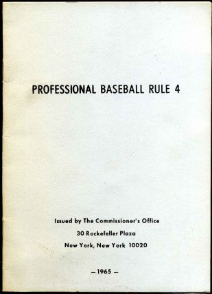 Professional baseball rule 4. Ford Frick