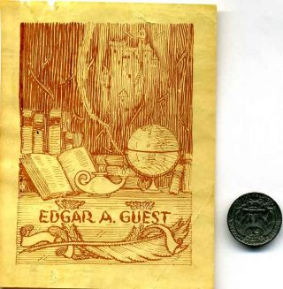 Bookplate. Edgar Albert Guest