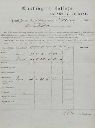 Document Signed by Robert E. Lee.