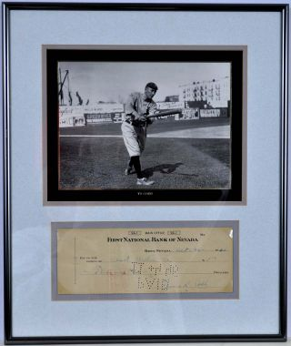 Check signed by Ty Cobb.