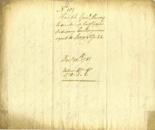 Document handwritten and signed by General James Murray (1719-1794).